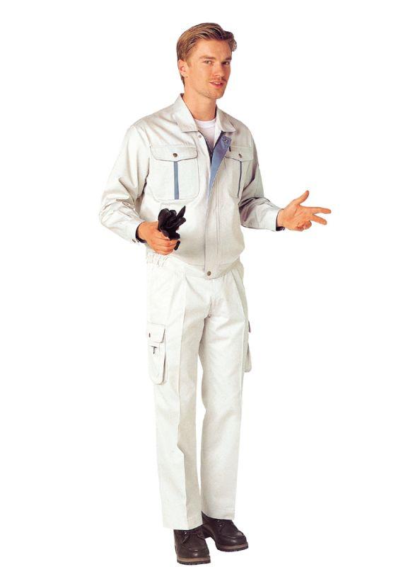 白色定做工作服应该如何去污?